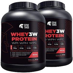 Kit 2x Whey Protein 3w 1,8kg Espartanos - Total 3,6kg