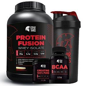 Kit Whey Protein Fusion + Bcaa + Creatina + Shaker
