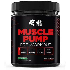 Pré Treino Muscle Pump Pre Workout 300g Espartanos