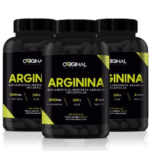 Kit 3x L-Arginina 120 Cáps - Original Nutrition