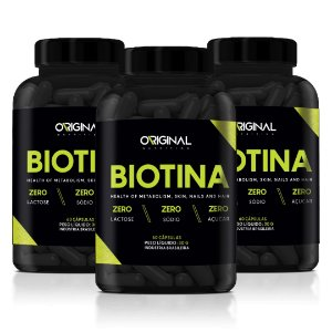 Combo 3x Biotina 60 Cáps - Original Nutrition