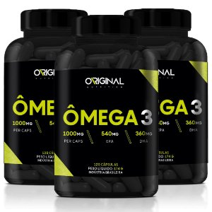 Kit 3x Ômega 3 120 Cáps - Original Nutrition