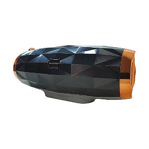 Caixa De Som Bluetooth Com Com Luz Rgb, Graves, Alça