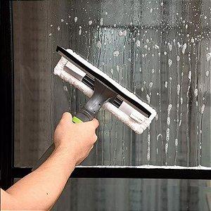 Rodo Limpa Vidros com Micro fibra e Spray 250ml Lava Seca e da Brilho