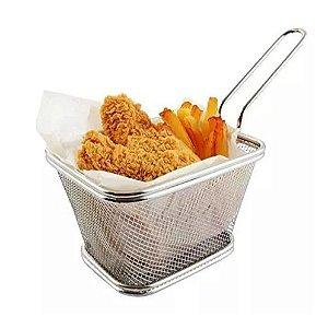 mini cesto para frituras quadrado  12,5x10x8,5cm CLINK