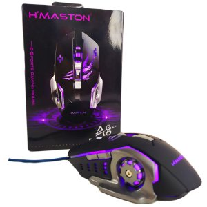 Mouse Gamer H'maston 6 Botoes Led A8 Gaming