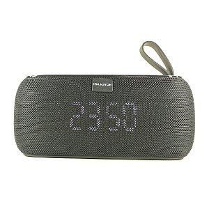 Caixa de Som Bluetooth Portátil H'maston 177 Wireless Com TWS, Alarme, Relógio