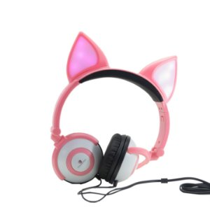 HEADPHONE COM FIO LED ORELHA DE GATO H'MASTON