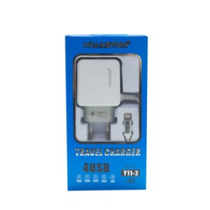 CARREGADOR RÁPIDO HMASTON PARA IPHONE 4 PORTAS USB Y11-2