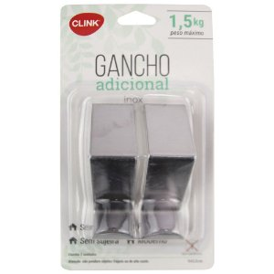 KIT 2 GANCHOS INOX CLINK