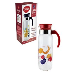 JARRA DE VIDRO DECORADA 1,4L CLINK
