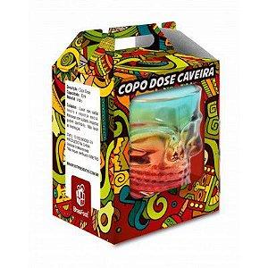 COPO DOSE CAVEIRA COLORIDO BRASFOOT