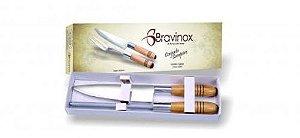 Conjunto Campeiro com 2 peças (1 faca / 1 chaira) BRAVINOX