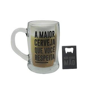 COPO DE CHOPP  LUDI COM ABRIDOR DE LATA 400ml LUDI