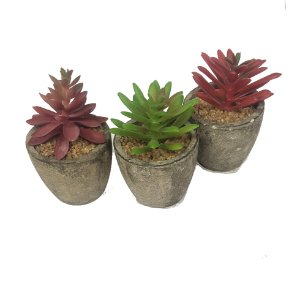 MINI VASO PLANTA ARTIFICIAL DECORATIVO 10cm