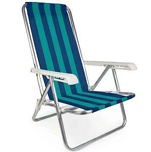 Cadeira Reclinável de Alumínio com 4 Posições MOR