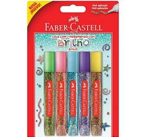 5 COLA COM GLITTER FABER CASTELL