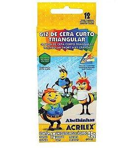 Giz De Cera Acrilex Curto - 15 Cores