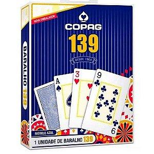 Baralho Tradicional Copag 139 Azul Grande 55 Cartas Original