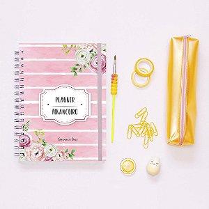 Planner Financeiro - Listrado Rosa