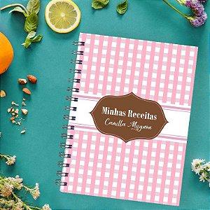 Caderno de Receitas - Quadriculado
