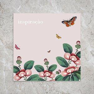 Quadro 18x18 - Jardim inspiração