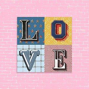 Quadro 18x18 - Love