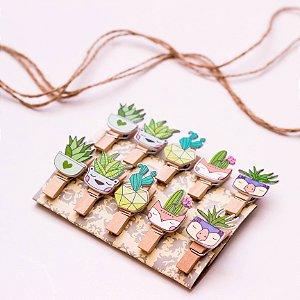Pegadores decorativos - Plantinhas
