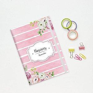 Caderno Flexível - Listrado rosa