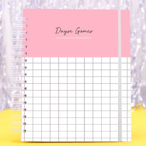 Planner Colorido 2020 - Rosa Listrado