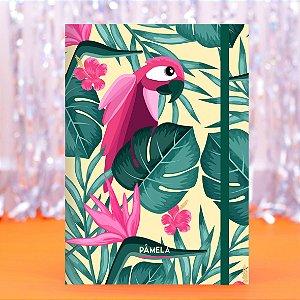 Caderno Flexível - Arara Rosa