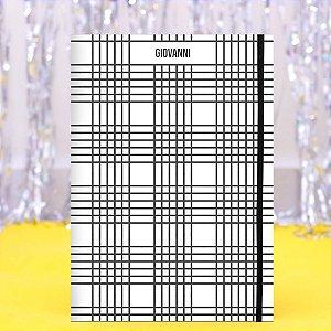 Caderno Flexível - Preto e Branco