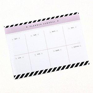 Planner de Mesa - Listrado