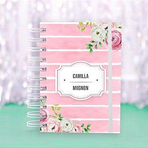 Caderno Universitário - Rosa Floral