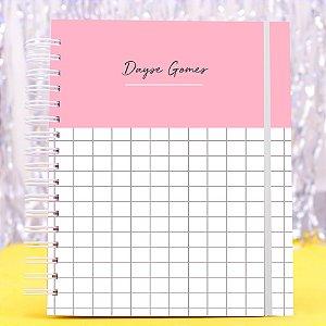 Caderno Universitário - Rosa Listrado