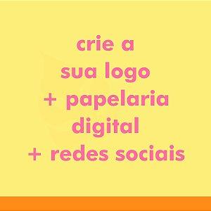 Criação de Logo + Papelaria Digital + Redes Sociais