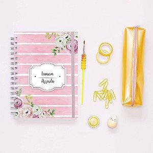 Planner Colorido - Listrado rosa
