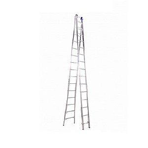 Escada Ext. de Alumínio Dupla 15 Degraus
