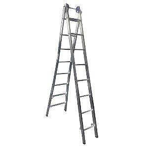 Escada Ext. de Alumínio Dupla 8 Degraus