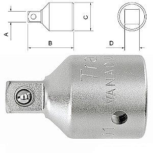 Adaptador P/ Soquete 1' x 3/4' (FxM) 44927/101 Tramontina