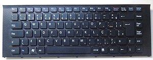 Teclado V081678d Br Para Notebook Sony Vaio Vpcea23fb