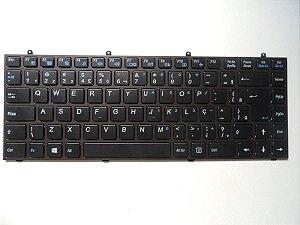 Teclado 6-80-w5470-330-1 Para Itautec W7530 Novo Com Moldura