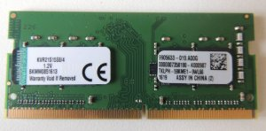 Memoria 4gb ddr4 para notebook Dell Inspiron i14 7472 a20 a30 a20g m10s a30g a10s a30s