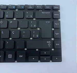Teclado para Notebook Samsung NP275E4E - Sem Moldura | Preto ABNT2