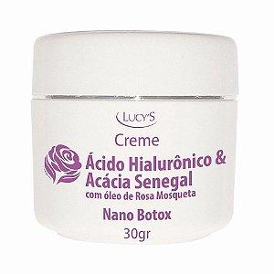 Creme Ácido Hialurônico Aha Nano Botox Rosa Mosqueta Lucys