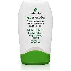 Creme Desodorante Mentolado Parapés Combate Odores 55g Natubelly
