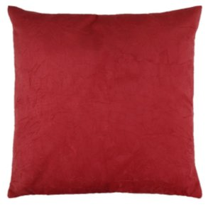 Capa de Almofada Decorativa Suede Amassado - Vermelha