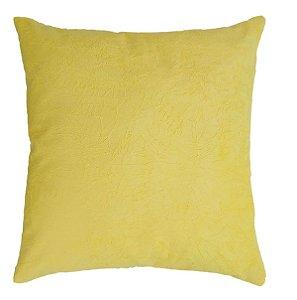 Capa de Almofada Decorativa Suede Amassado - Amarela