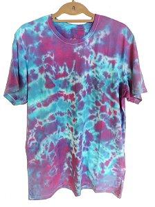 Camiseta Tie-Dye Azul Cósmico