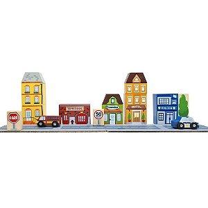 Blocos de montar cidade (Bombeiro/Polícia/farmácia/hotel)